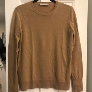 Everlane Cashmere Crew | Camel | Medium